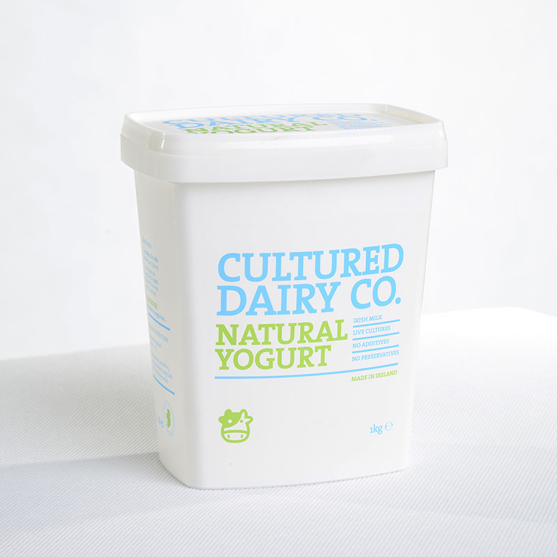 Corcoran In Mould Labelling Square Container Natural Yogurt