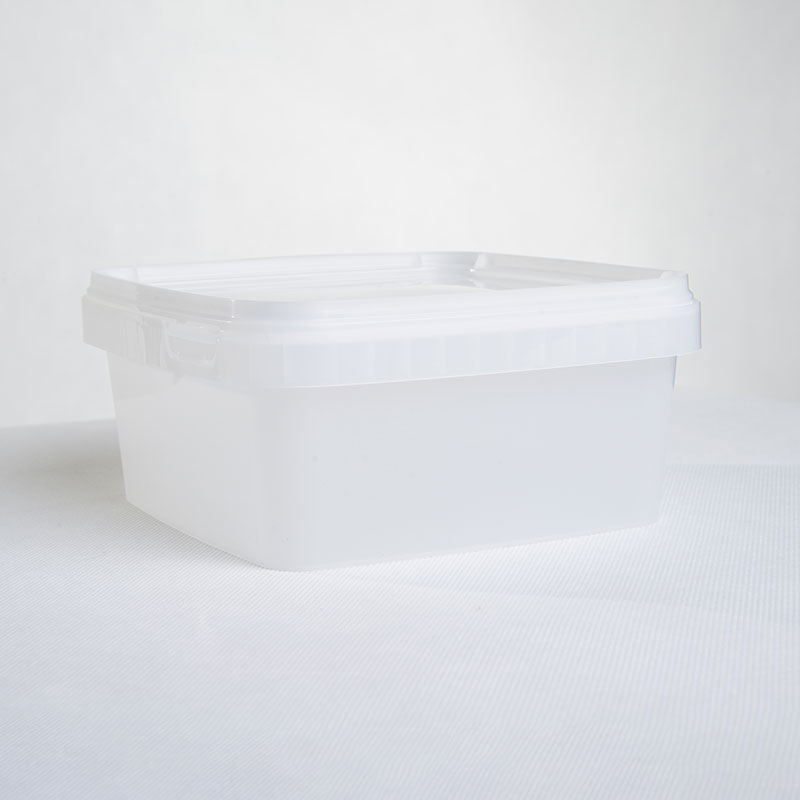 Corcoran Products Tamper Evident container Natural square