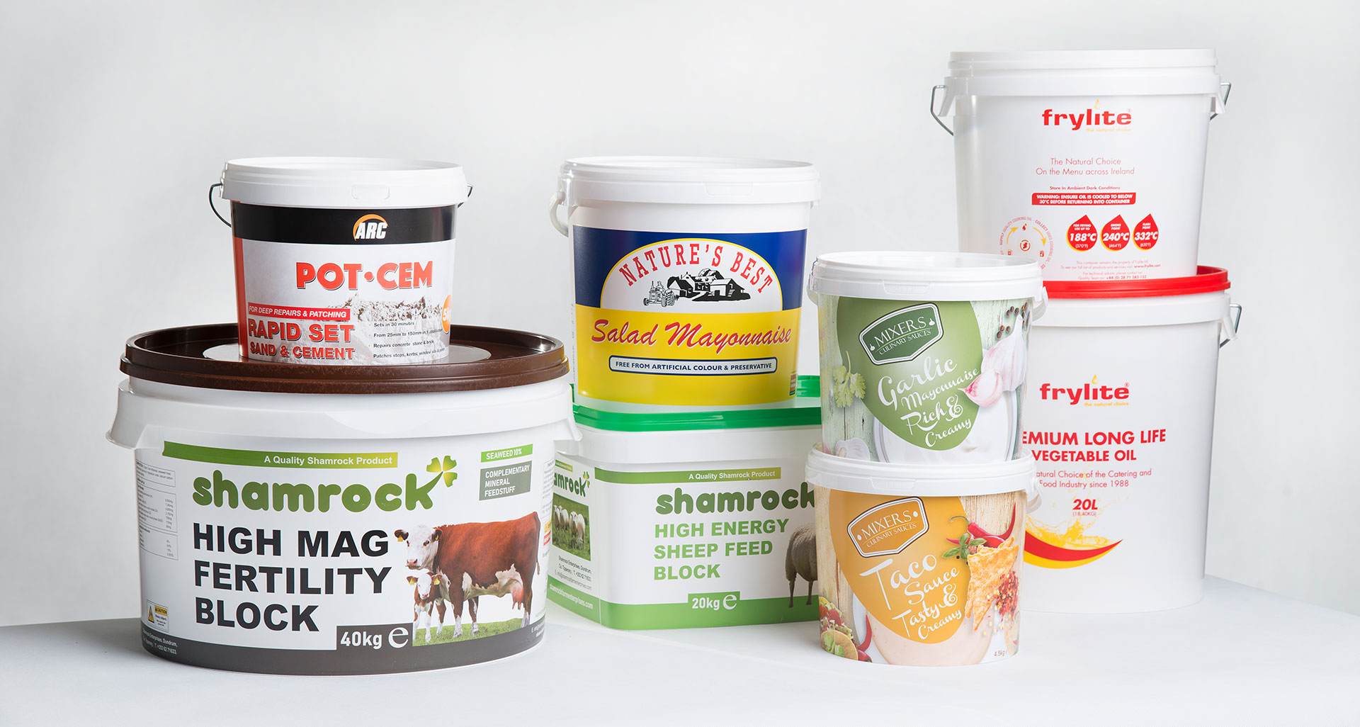 Corcoran Products Packaging Buckets containers