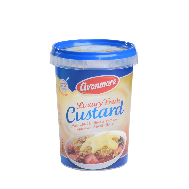 Corcoran In Mould Labelling Round Container Custard