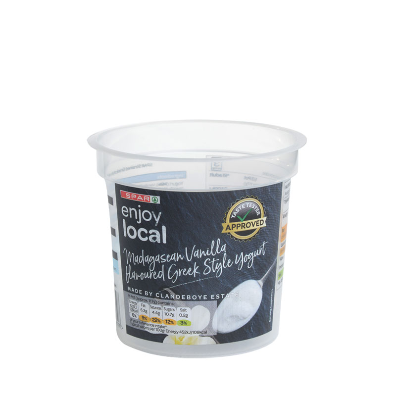Corcoran In Mould Labelling Round Container yogurt