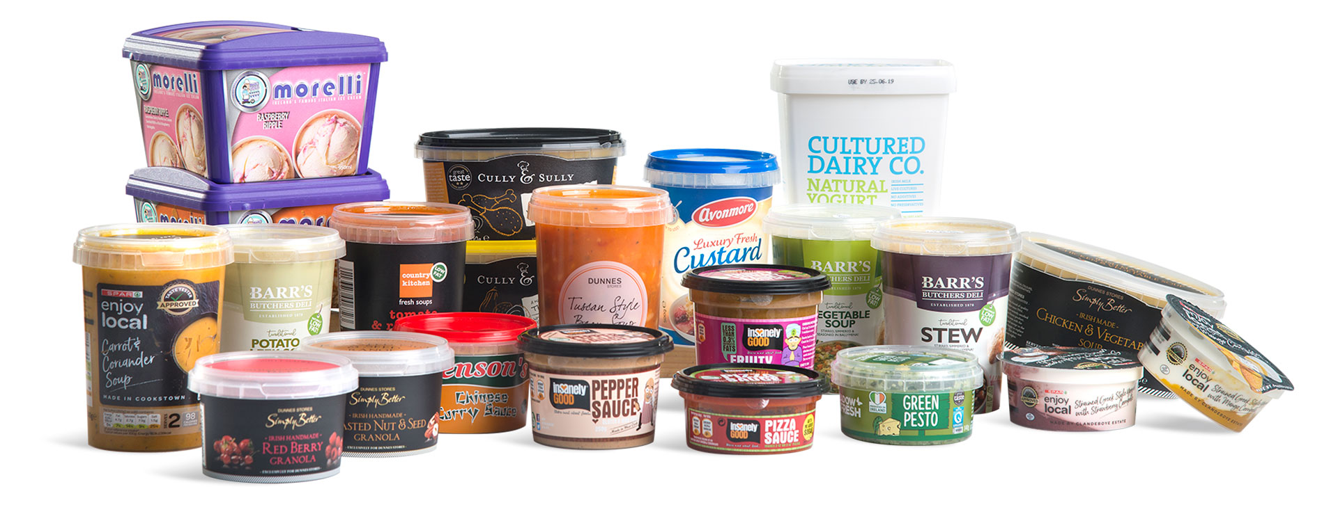 Corcoran Products Packaging in mould labelling containers